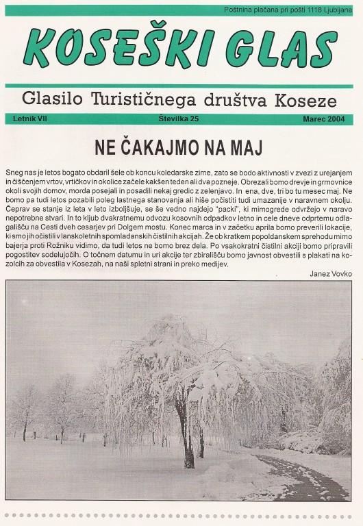 Koseški glas št. 25, marec 2004