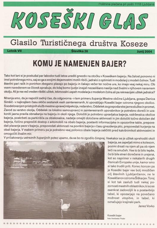 Koseški glas št. 26, junij 2004