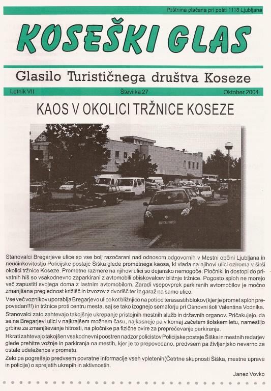 Koseški glas št. 27, oktober 2004