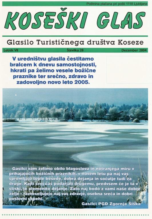 Koseški glas št. 28, december 2004