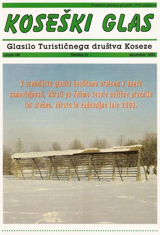 Koseški glas št. 31, december 2005