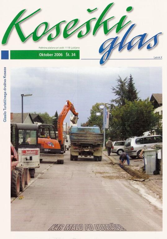 Koseški glas št. 34, oktober 2006