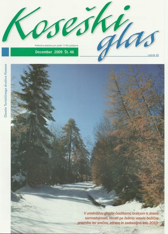 Koseški glas št. 46, december 2009