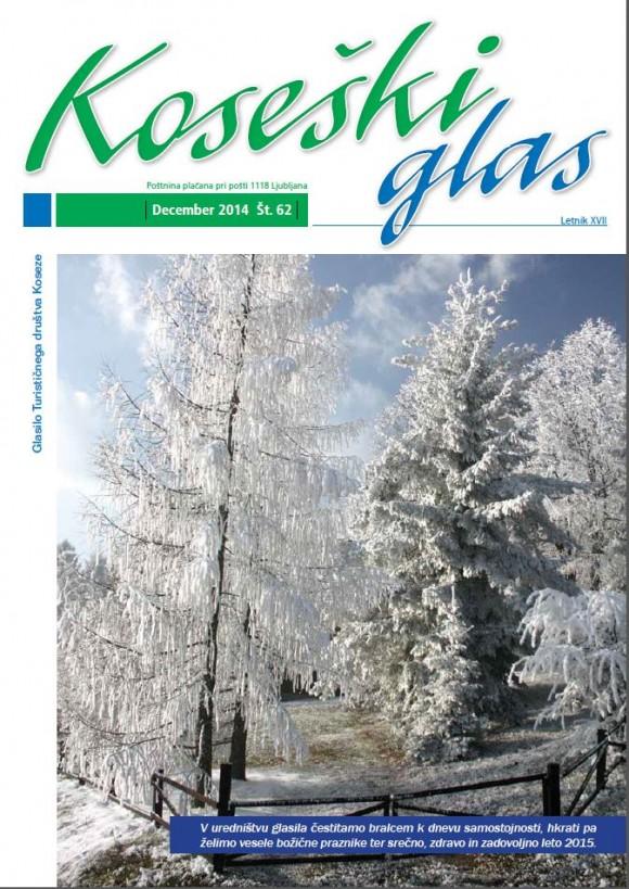 Koseški glas št.62, december 2014