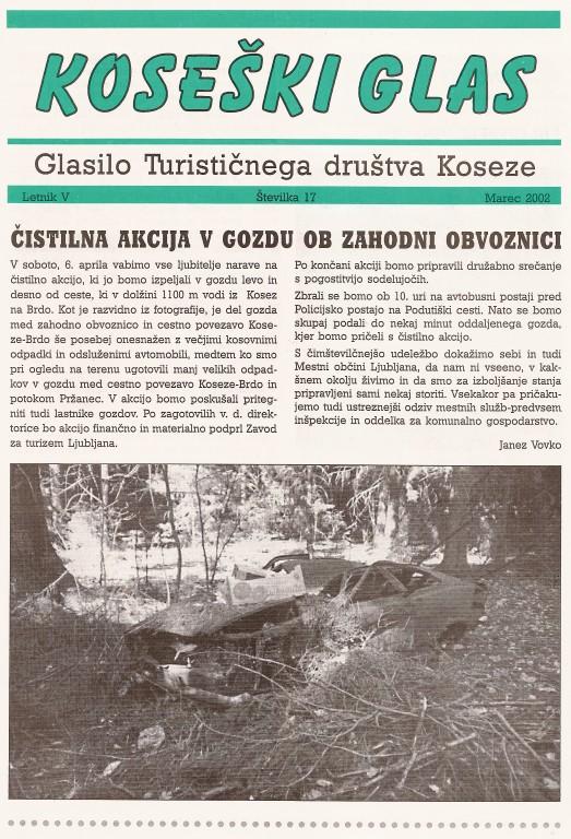 Koseški glas št. 17, marec 2002