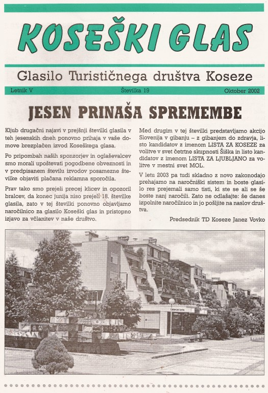 Koseški glas št. 19, oktober 2002