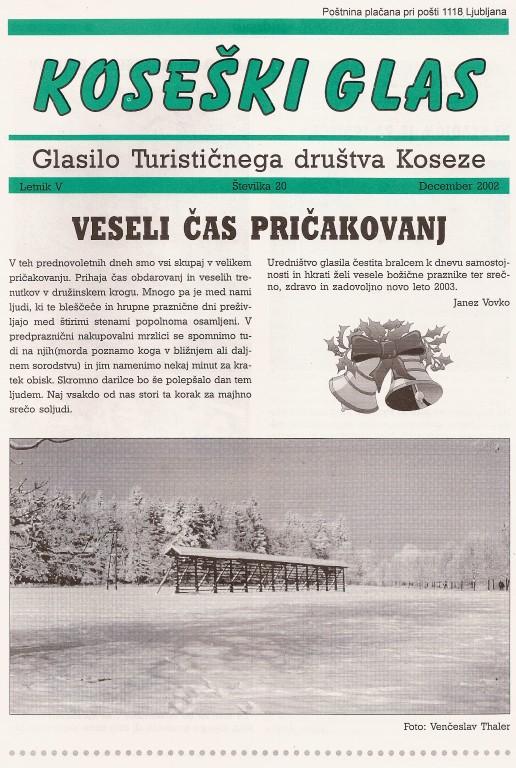 Koseški glas št. 20, december 2002