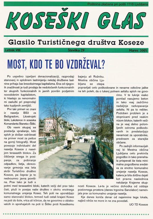 Koseški glas št. 29, marec 2005