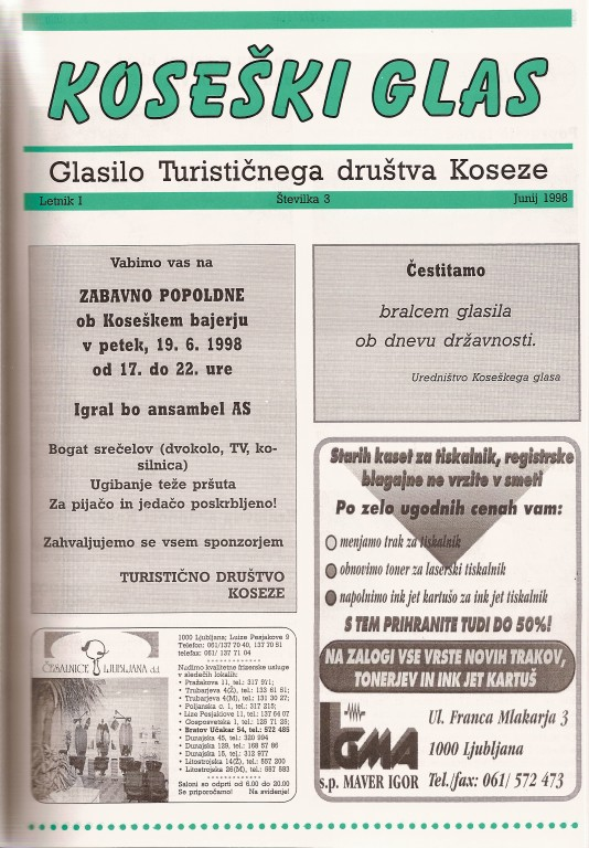 Koseški glas št. 3, junij 1998