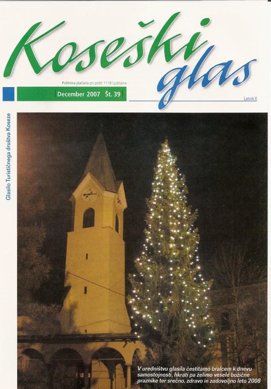 Koseški glas št. 39, december 2007