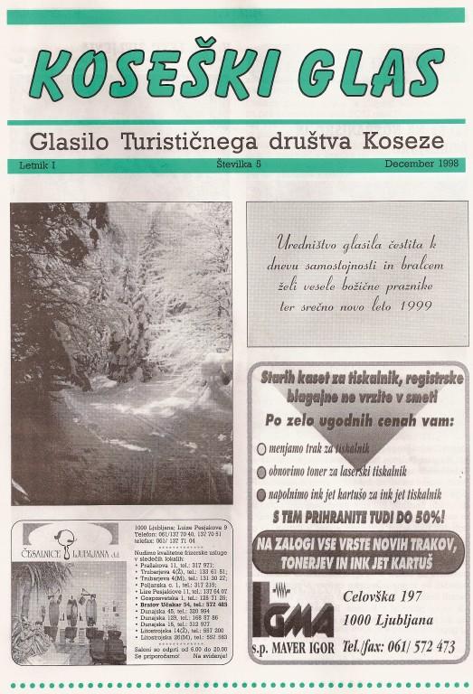 Koseški glas št. 5, december 1998