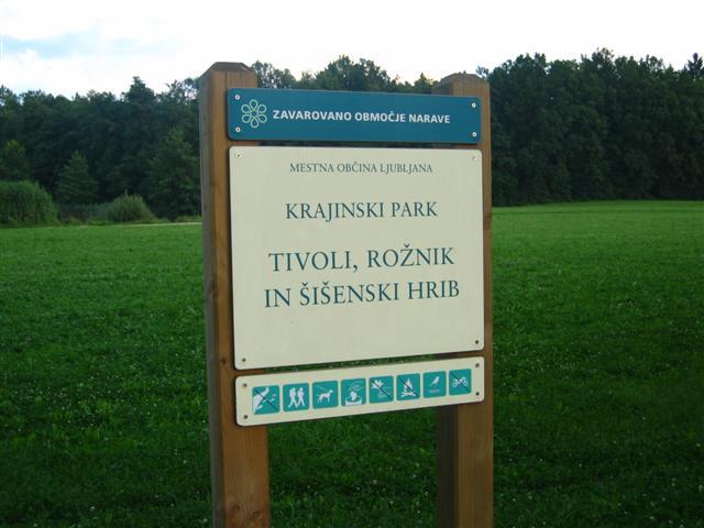 Krajinski park Tivoli, Rožnik in Šišenski hrib